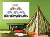 Brown Counting Elephants Posters by  Avalisa