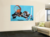 San Antonio Spurs v New Orleans Hornets: Antonio McDyess and Emeka Okafor Prints by Chris Graythen