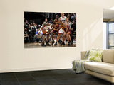 Miami Heat v Cleveland Cavaliers: LeBron James and Joey Graham Print by David Liam Kyle