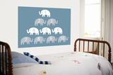 Blue Counting Elephants Posters by  Avalisa