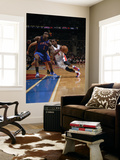 New York Knicks v Detroit Pistons: Rodney Stuckey and Amar'e Stoudemire Art by Allen Einstein