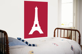 Red Eiffel Tower Art by  Avalisa