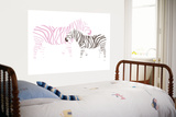 Pink Zebra Art par  Avalisa