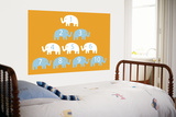Orange Counting Elephants Posters by  Avalisa