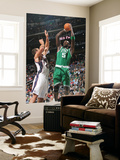 Boston Celtics v New Jersey Nets: Kris Humphries and Kevin Garnett Posters by Jeyhoun Allebaugh