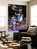 New Orleans Hornets v Sacramento Kings: Carl Landry and Jason Smith Poster by Rocky Widner