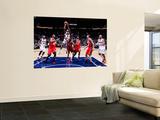 New Jersey Nets v Atlanta Hawks: Jamal Crawford, Devin Harris, Josh Powell, Derrick Favors, Damion  Art by Kevin Cox