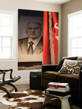 Portrait of Mikhail Gorbachev, Ussr Leader in the 1990S, Estonia Prints by Walter Bibikow