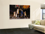 Golden State Warriors v Los Angeles Lakers: Lamar Odom and Vladimir Radmanovic Prints by Noah Graham