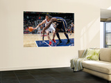Indiana Pacers v Atlanta Hawks: Zaza Pachulia and Solomon Jones Prints by Kevin Cox