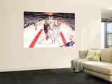 Los Angeles Lakers v Houston Rockets: Chuck Hayes and Luis Scola Posters by Bill Baptist