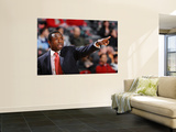 Portland Trail Blazers v New Jersey Nets: Avery Johnson Poster by David Dow
