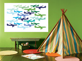 Airplane Pattern Affiche par  Avalisa
