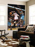 New Orleans Hornets v Miami Heat: Dwyane Wade and Emeka Okafor Prints by  Mike