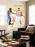 Oklahoma City Thunder v Houston Rockets: Brad Miller and Kevin Durant Print by Bill Baptist
