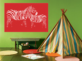 Red Zebra Prints by  Avalisa