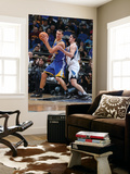 Golden State Warriors v Minnesota Timberwolves: Andris Biedrins and Darko Milicic Prints by David Sherman