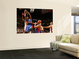 Detroit Pistons v Miami Heat: Greg Monroe and Joel Anthony Prints by Issac Baldizon