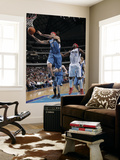 Minnesota Timberwolves v Dallas Mavericks: Michael Beasley and Jason Terry Print by Glenn James