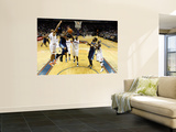 Denver Nuggets v Charlotte Bobcats: Carmelo Anthony, Boris Diaw and Nazr Mohammed Poster by  Streeter