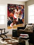 Detroit Pistons v Miami Heat: LeBron James and Tayshaun Prince Poster by Victor Baldizon