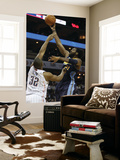 Denver Nuggets v Charlotte Bobcats: Nene and Boris Diaw Prints by  Streeter