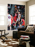 New Jersey Nets v Atlanta Hawks: Johan Petro and Zaza Pachulia Posters by Scott Cunningham