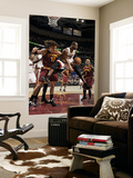 Miami Heat v Cleveland Cavaliers: Dwyane Wade and Anderson Varejao Poster by David Liam Kyle
