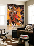 Chicago Bulls v Los Angeles Lakers: Ronnie Brewer and Matt Barnes Print by Andrew Bernstein