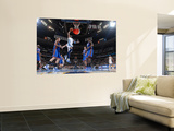 New York Knicks v Denver Nuggets: Nene and Amar'e Stoudemire Print by Garrett Ellwood