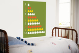 Green Counting Pears Poster by  Avalisa
