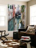 Reflections and Small Bridge of Canal of Venice, Italy Prints by Terry Eggers