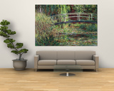 Waterlily Pond: Pink Harmony, 1900 Prints by Claude Monet