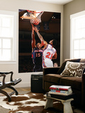 Atlanta Hawks v New York Knicks: Wilson Chandler and Al Horford Print by Jeyhoun Allebaugh