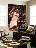 Charlotte Bobcats v Miami Heat: LeBron James Print by Victor Baldizon