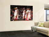 Washington Wizards v Miami Heat: Chris Bosh, LeBron James, Joel Anthony and Mario Chalmers Prints by Victor Baldizon