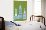 Green Skyscraper Print by  Avalisa