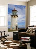 Visitors at Kilauea Lighthouse, Kauai, Hawaii, USA Prints by Fred Lord