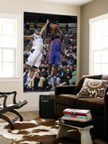 Detroit Pistons v Dallas Mavericks: Will Bynum and Jose Juan Barea Print by Danny Bollinger