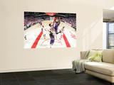Phoenix Suns v Houston Rockets: Hakim Warrick and Brad Miller Poster by Bill Baptist