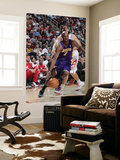 Los Angeles Lakers v Houston Rockets: Lamar Odom and Luis Scola Art by Bill Baptist