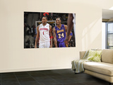 Los Angeles Lakers v Detroit Pistons: Tracy McGrady and Kobe Bryant Prints by Allen Einstein