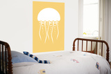 Yellow Jellyfish Posters by  Avalisa