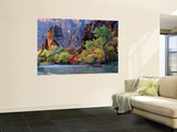 Fall Foliage along Virgin River, Zion National Park, Utah, USA Poster