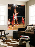 Houston Rockets v Toronto Raptors: Andrea Bargnani and Brad Miller Prints by Ron Turenne