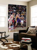 Los Angeles Lakers v Houston Rockets: Pau Gasol and Brad Miller Print by Bill Baptist