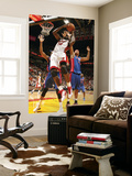 Detroit Pistons v Miami Heat: Joel Anthony and Charlie Villanueva Prints by Issac Baldizon