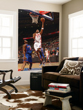 New York Knicks v Detroit Pistons: Tracy McGrady and Bill Walker Print by Allen Einstein