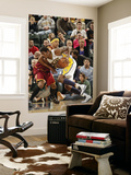 Cleveland Cavaliers v Indiana Pacers: Solomon Jones and Jamario Moon Prints by Ron Hoskins