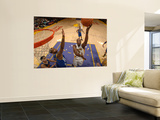 Golden State Warriors v Los Angeles Lakers: Lamar Odom and Dorell Wright Prints by Noah Graham